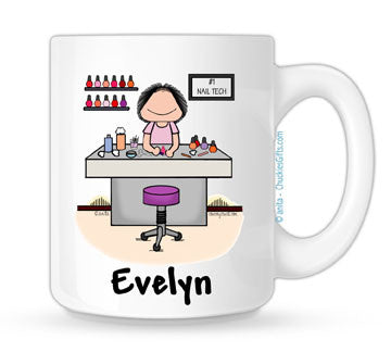Manicurist Mug - Female | Personalized Nail Tech Mug