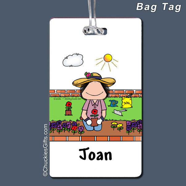 Gardening Bag Tag Female Personalized