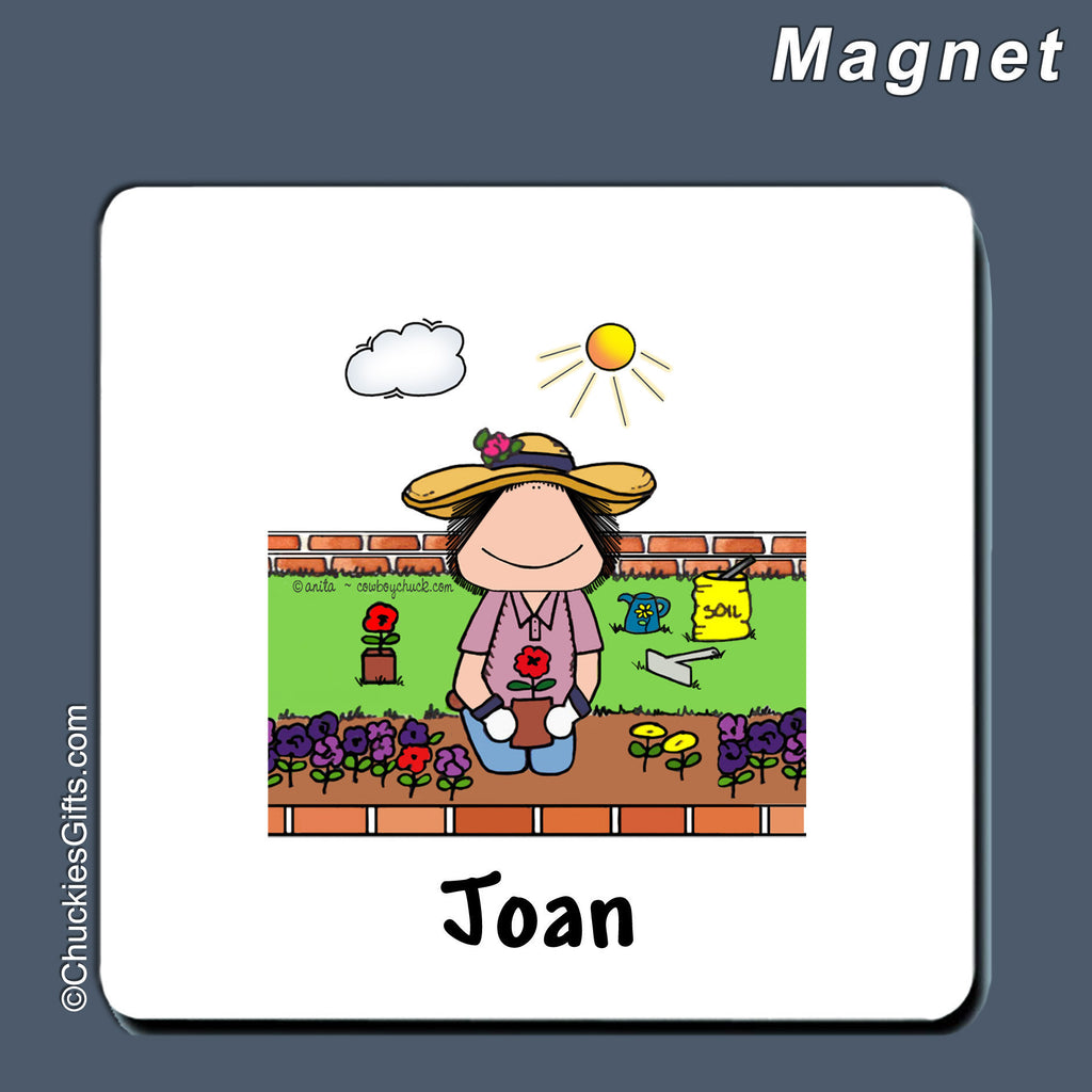Gardening Magnet Female Personalized