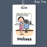 Hair Stylist Bag Tag Female Personalized