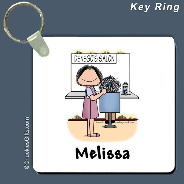 Hair Stylist Key Ring Female Personalized