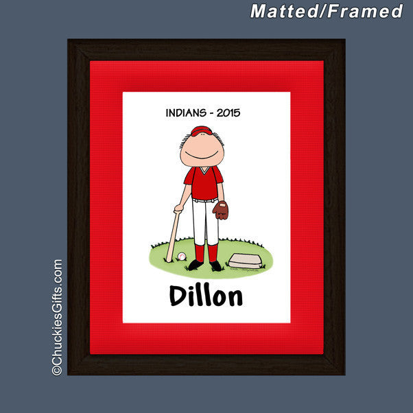 Baseball Player Mat/Frame | Value Collection
