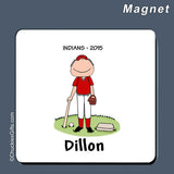 Baseball Player Magnet Male Personalized