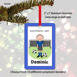 Soccer Player Ornament Male - Personalized