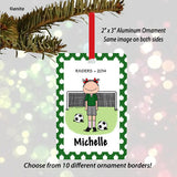 Soccer Player Ornament Female - Personalized