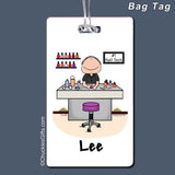 Manicurist Nail Tech Bag Tag Male Personalized