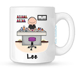 Manicurist Mug - Male | Personalized Nail Tech Mug
