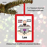 Manicurist Nail Tech Ornament Male - Personalized