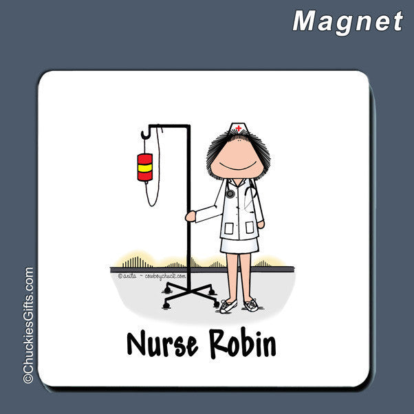 Nurse Magnet Female Personalized
