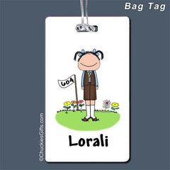 Brownie Bag Tag Female - Personalized 2038