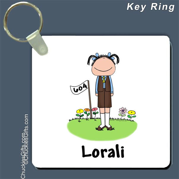 Brownie Key Ring Female - Personalized 2038