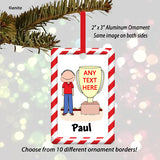 Trophy Award Ornament Male - Personalized