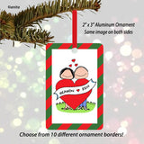 Lovers Ornament - Couple - Personalized