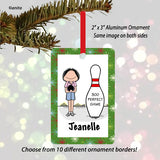 Bowler Ornament Female - Personalized