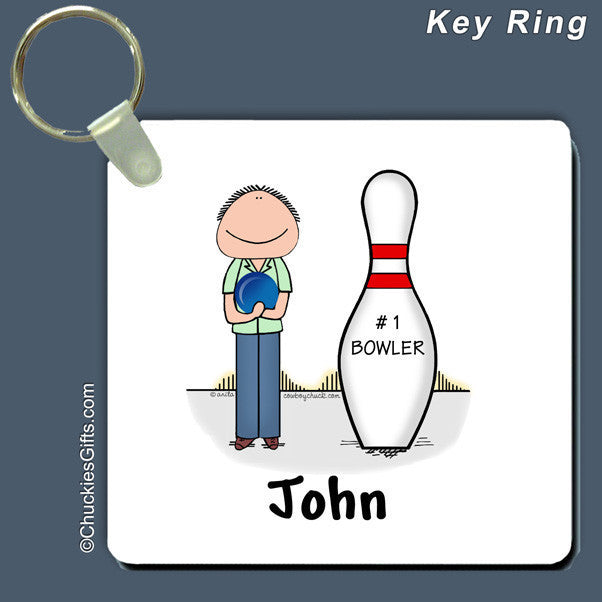 Bowler Key Ring Male Personalized