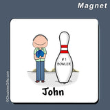 Bowler Magnet Male Personalized