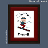 Skier Mat/Frame Male Personalized