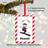 Skiing Ornament Male - Personalized