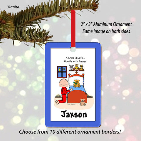 Prayers Ornament Male - Personalized
