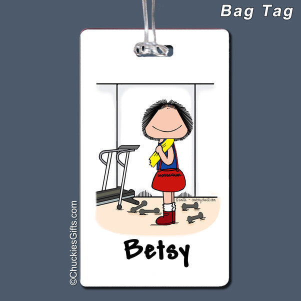 Gym Workout Bag Tag Female Personalized