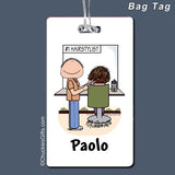 Hair Stylist Bag Tag Male Personalized