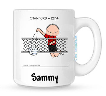 Volleyball Mug Male Personalized