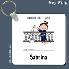 Volleyball Key Ring Female Personalized