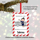 Volleyball Ornament Female - Personalized