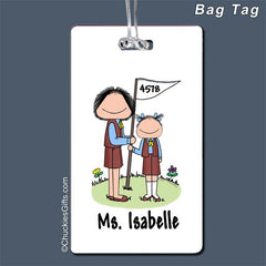 Brownie Leader Bag Tag Female - Personalized 2063
