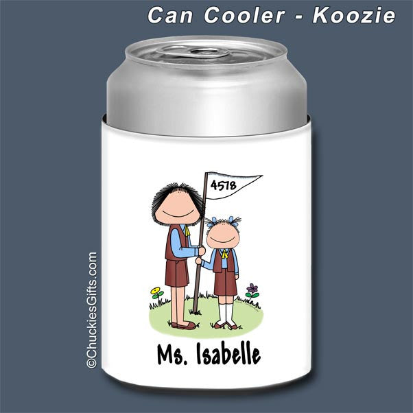 Brownie Leader Can Cooler Female - Personalized 2063