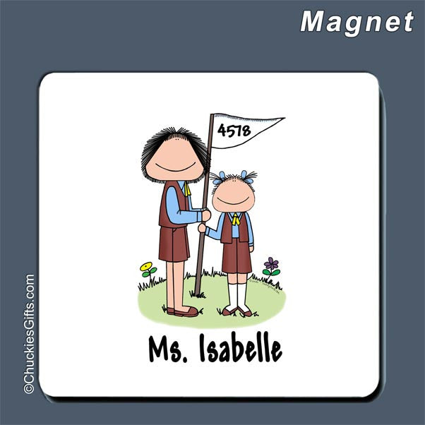 Brownie Leader Magnet Female - Personalized 2063