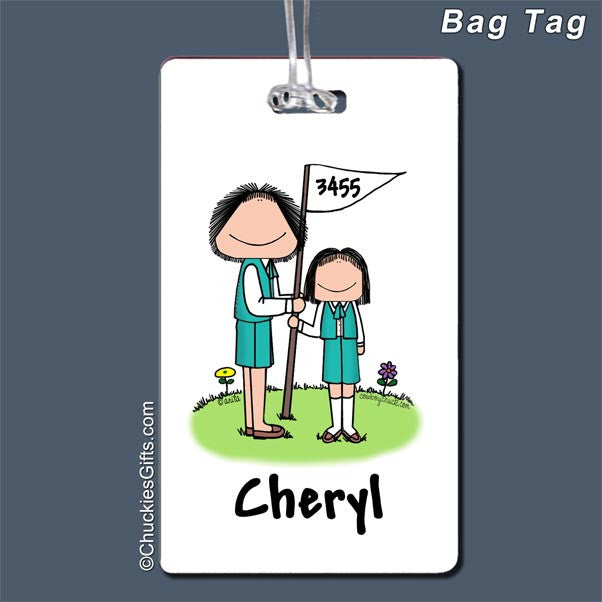 Girl Scout Leader / Boy Scout Leader Bag Tag   | Value Collection