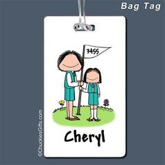 Girl Scout Leader Bag Tag Female - Personalized 2064