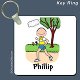 Runner Key Ring Male Personalized