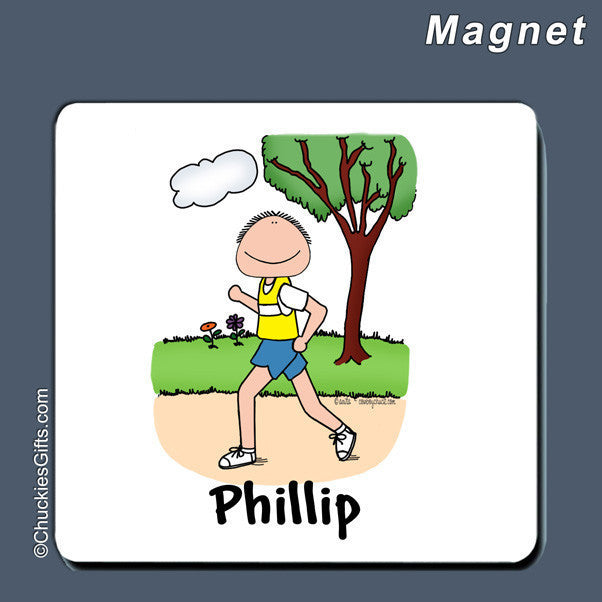 Runner Magnet Male Personalized