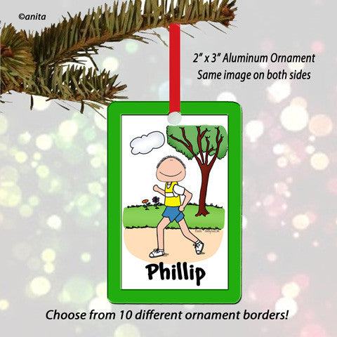 Runner Ornament Male - Personalized