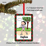 Runner Ornament Female - Personalized