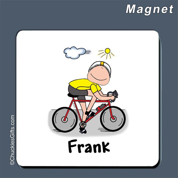 Bicyclist Magnet Male - Personalized 2072
