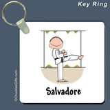 Martial Arts Key Ring Male Personalized