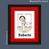 Martial Arts Mat/Frame Female Personalized