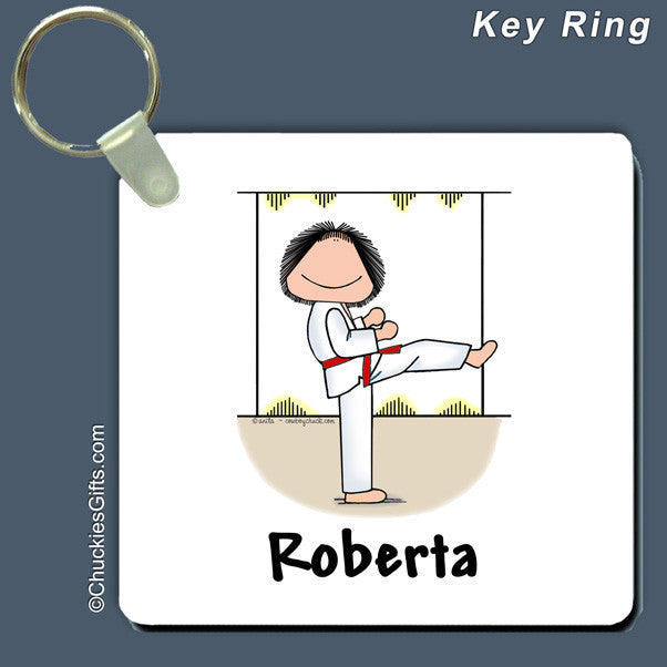 Martial Arts Key Ring Feale Personalized