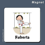 Martial Arts Magnet Female Personalized