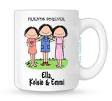 Friends Mug 3 Females - Personalized