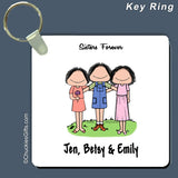 Friends Key Ring Female/Female/Female Personalized