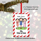 Sisters Female/Female/Female Ornament Personalized