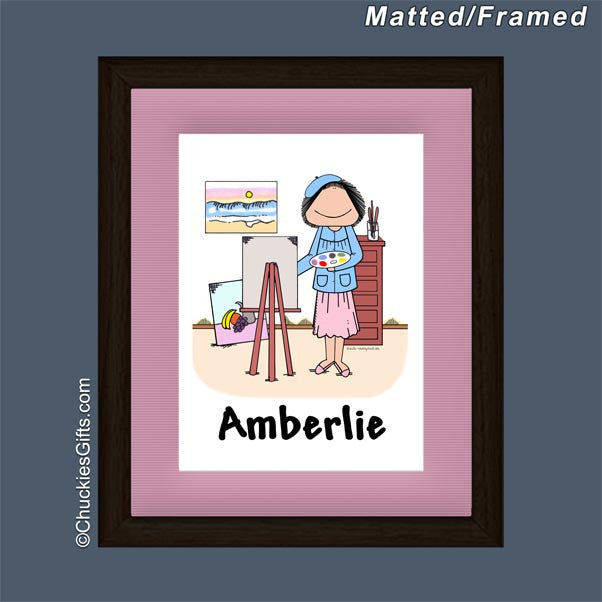 Artist Framed Mini Cartoon Female - Personalized 2099