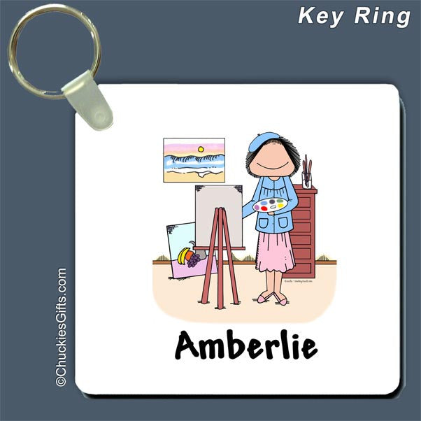Artist Key Ring Female - Personalized 2099