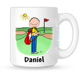 Golfer Mug Male Personalized