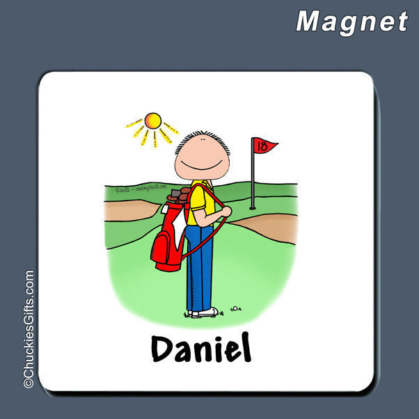 Golfer Magnet Male Personalized