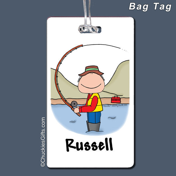 Fishing Bag Tag Male Personalized